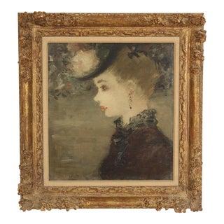Impressionist Portrait Painting by Dietz Edzard For Sale