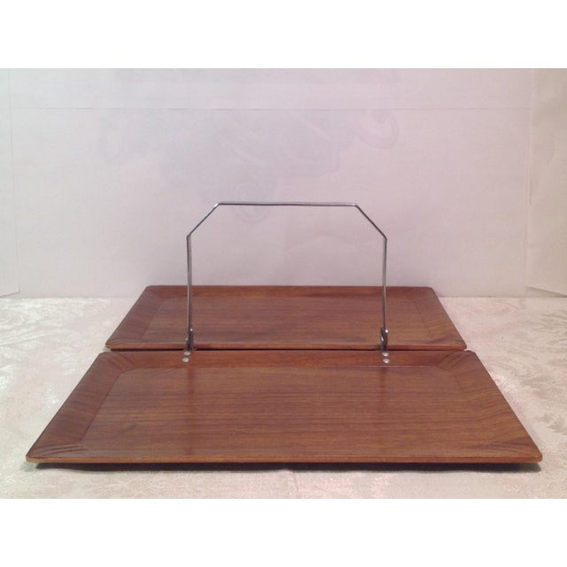 Mid-Century Modern Vintage Folding Serving Tray - Image 4 of 10