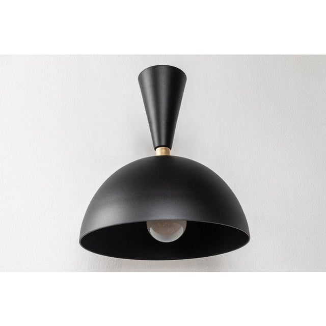 Not Yet Made - Made To Order Large 'Lola Ii' Sconces in Black - a Pair For Sale - Image 5 of 11