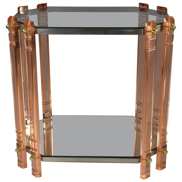 20th Century French Plexiglass Etagere or Bar Cart For Sale