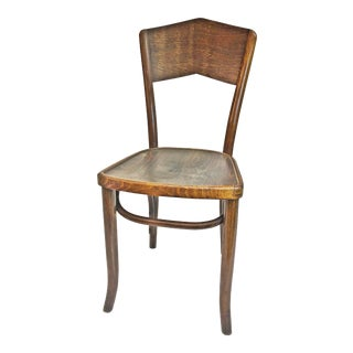Vintage Oak Bentwood Bistro Chair