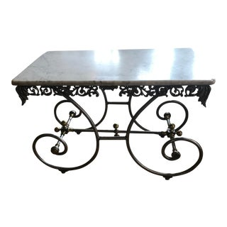 Vintage French Marble Pastry/Bakery Table For Sale