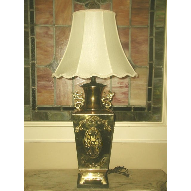Brass Oriental Lamp Large, 3 Way Lighting - Image 2 of 9