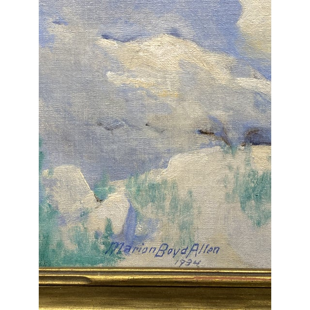Rustic 1934 Oil Painting, Montezuma's Castle by Marion Boyd Allen For Sale - Image 3 of 5