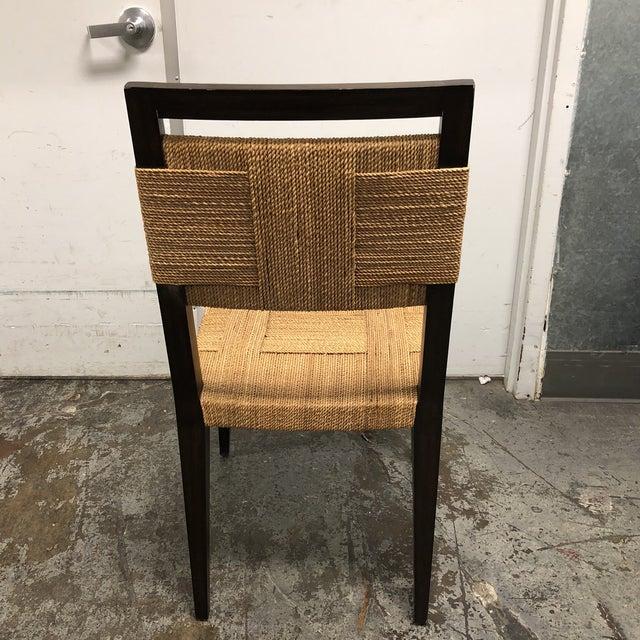 Palecek Raffia Rope & Wood Side Chair - Image 6 of 7