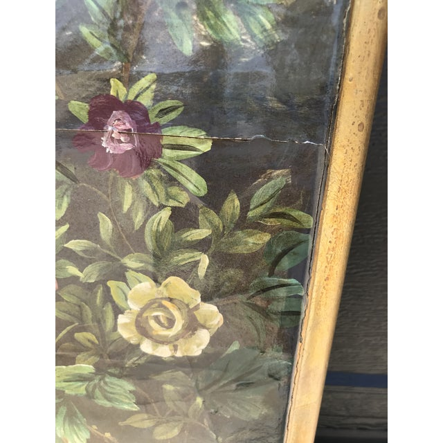 Wood Chinoiserie Decoupaged Wall Hanging For Sale - Image 7 of 13
