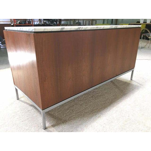 Florence Knoll 6 Drawer Carrera Marble Top Teak Chest For Sale - Image 5 of 5