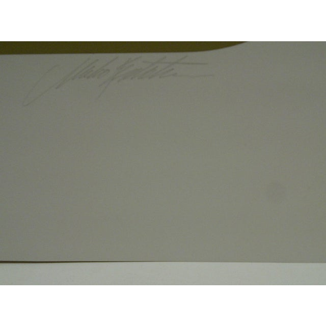 """Paper Limited Signed Artists Proof Print """"Trylon"""" Mike Kutchner For Sale - Image 7 of 7"""