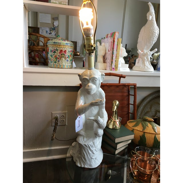Vintage Ceramic Monkey Lamp - Image 9 of 10