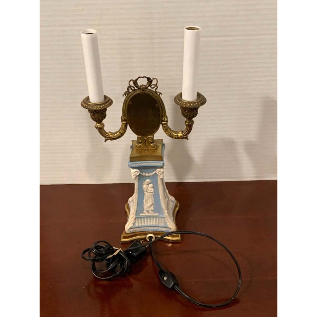 Wedgwood Adam Style Ormolu Mounted Lamp For Sale In Atlanta - Image 6 of 11