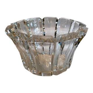 Orrefors Angular-Edged Crystal Bowl For Sale