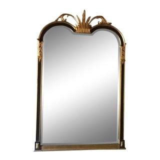 1970s Vintage Hollywood Regency Style Wood Mirror For Sale