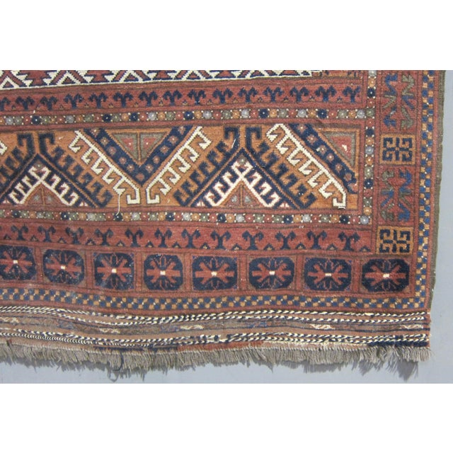 "Vintage Sarreid LTD Tribal Rug - 5' x 6'11"" - Image 5 of 6"