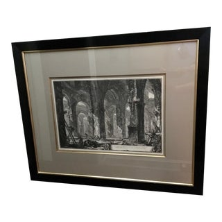 "Large 19th C. Piranesi Engraving ""Ruins at Castel Gondolfo"" For Sale"
