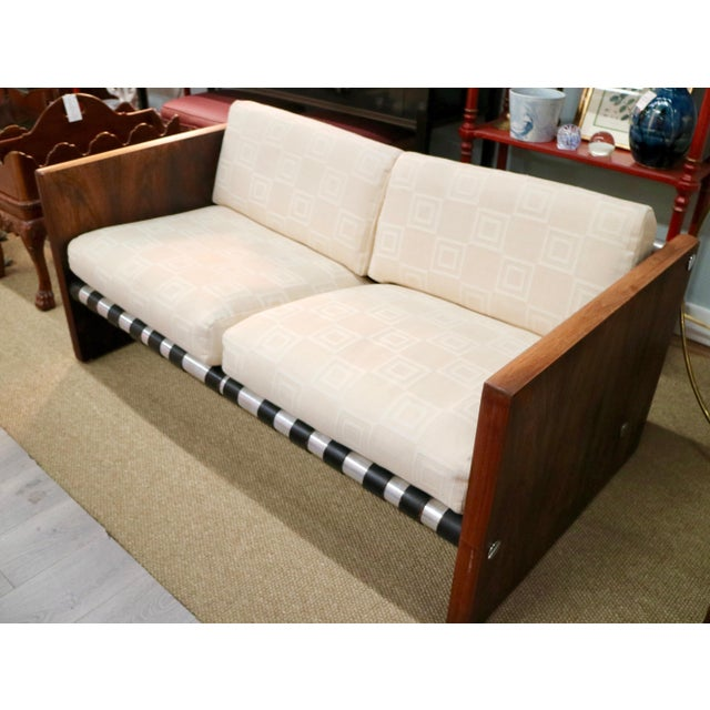 """This Milo Baughman Sling Sofa in Rosewood is a very unique piece! """"Milo Baughman was one of the most agile and adept..."""