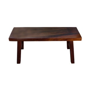 Oriental Zen Natural Wood Double Seat Plank Bench For Sale