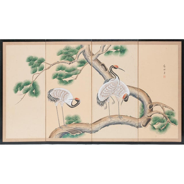Late 19th - Early 20th Century Japanese Byobu Screen For Sale - Image 13 of 13