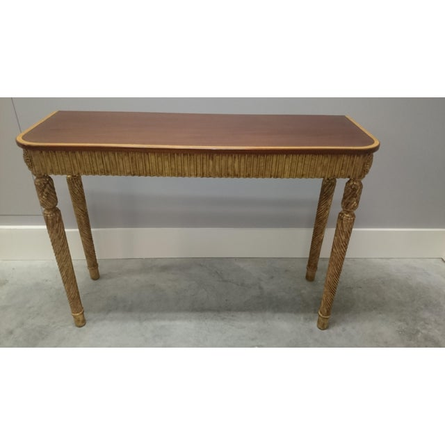 Therien Studio George III Gold Leaf and Mahogany Console - Image 2 of 4
