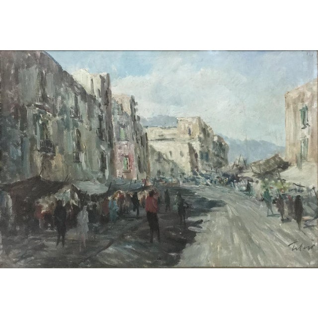 Impressionism Antique Impressionist Framed Oil Painting by Francesco Filosa (1910-1990) For Sale - Image 3 of 11