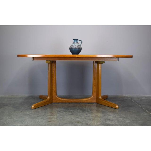 N.O. Moller / Gudme Danish Teak Dining Table For Sale - Image 5 of 11