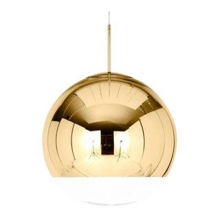 Tom Dixon Mirror Ball 40cm Pendant Gold For Sale