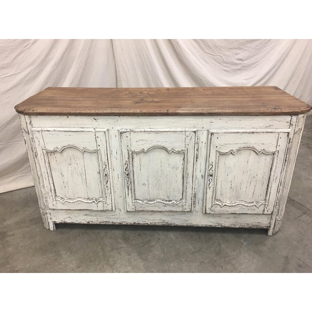 18th C French Provencal Three Door Painted Enfilade Sideboard For Sale - Image 10 of 13