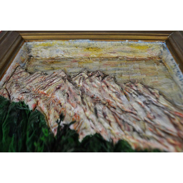 Vintage Folk Art Bas Relief Wood Carving of Man Fishing by C.J. Le Poidevin For Sale - Image 5 of 11
