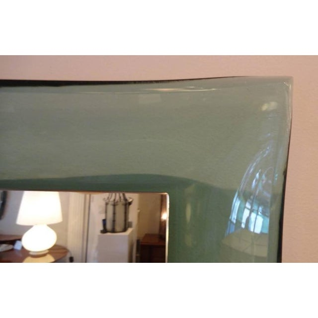 Fontana Arte Very Rare Curved Framed Wall Mirror Italy circa 1958 For Sale In New York - Image 6 of 10