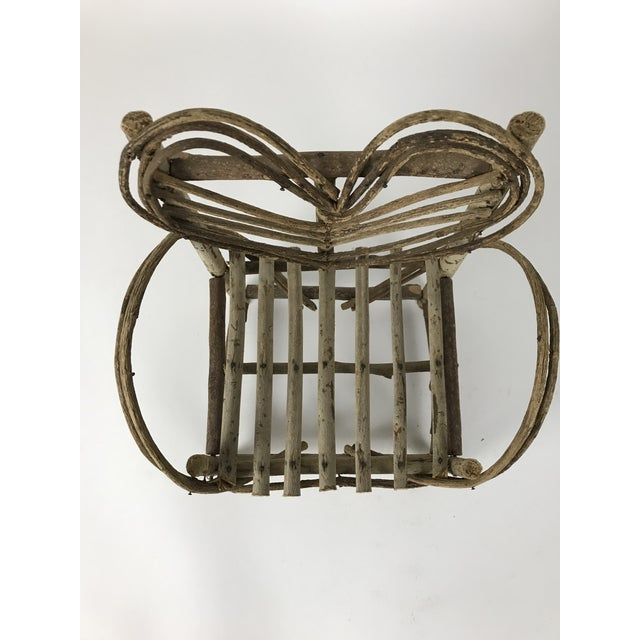 Bent Twigs Heart Chair Plant Stand For Sale In Los Angeles - Image 6 of 10