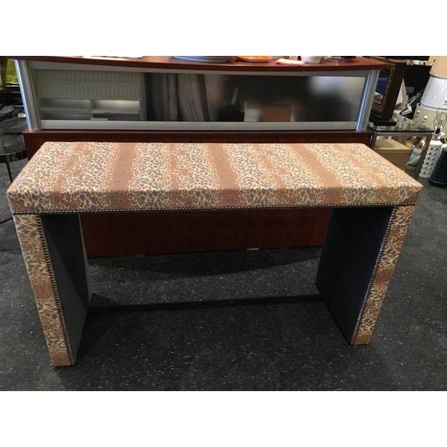 Wesley Hall Fabric Covered Console Table - Image 2 of 8