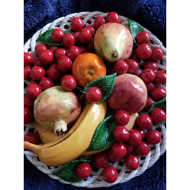 Traditional Capodimonte Fruit Platter For Sale - Image 3 of 8