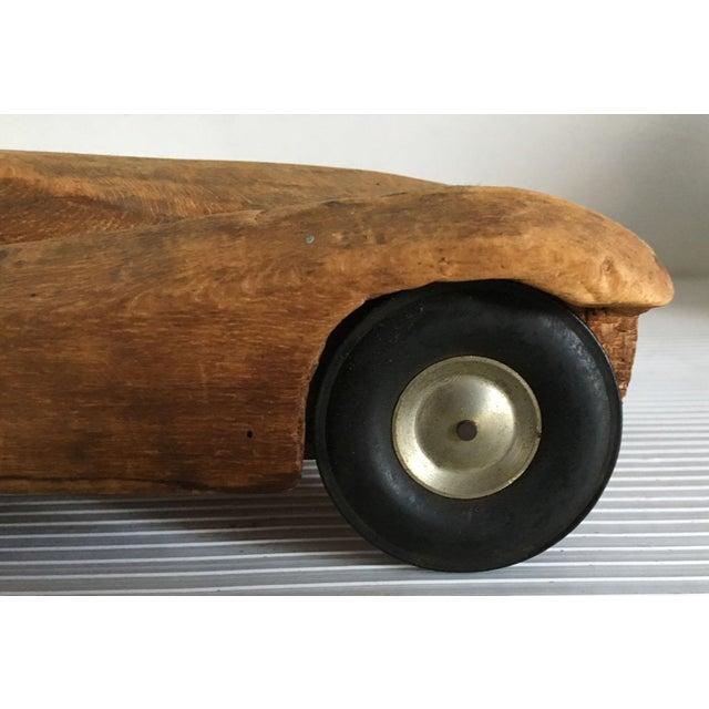 Antique Wooden Hand Carved Model Car - Image 6 of 11