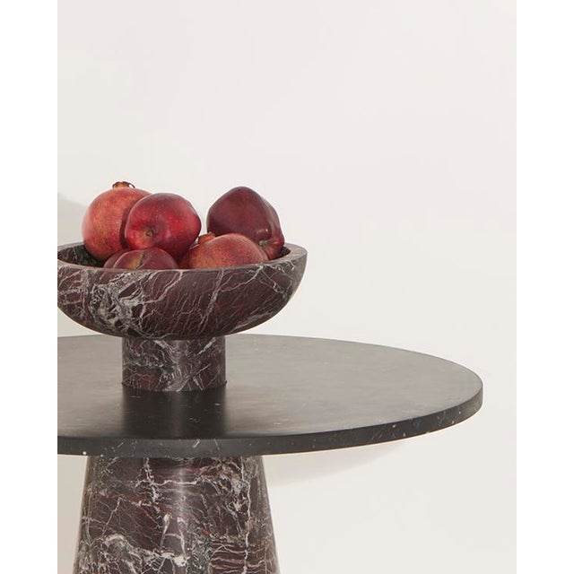 Stone Modern Handcrafted Fruit Bowl in Italian Marble by Karen Chekerdjian For Sale - Image 7 of 10