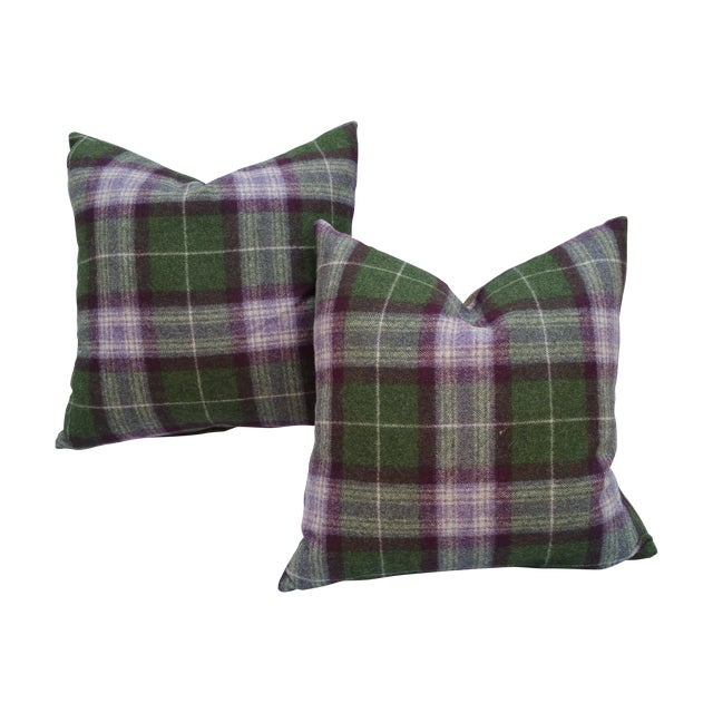 Scottish Plaid Pillows - Pair - Image 1 of 5