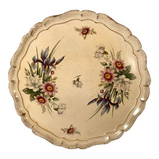 Vintage Italian Florentine Wooden Botanical Tray For Sale
