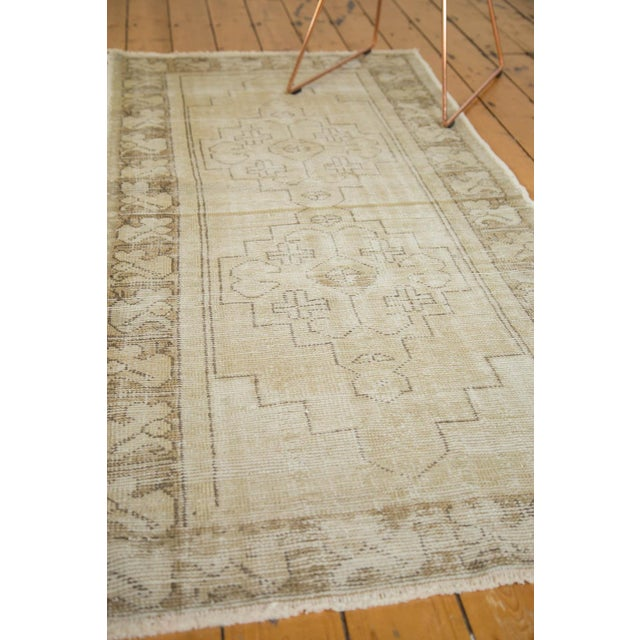 "Vintage Distressed Oushak Rug Runner - 3'1"" x 6'8"" - Image 9 of 9"