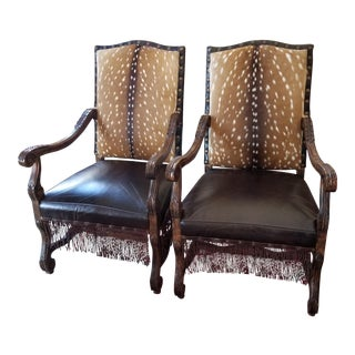 Pair of Texas French Style Arm Chairs For Sale