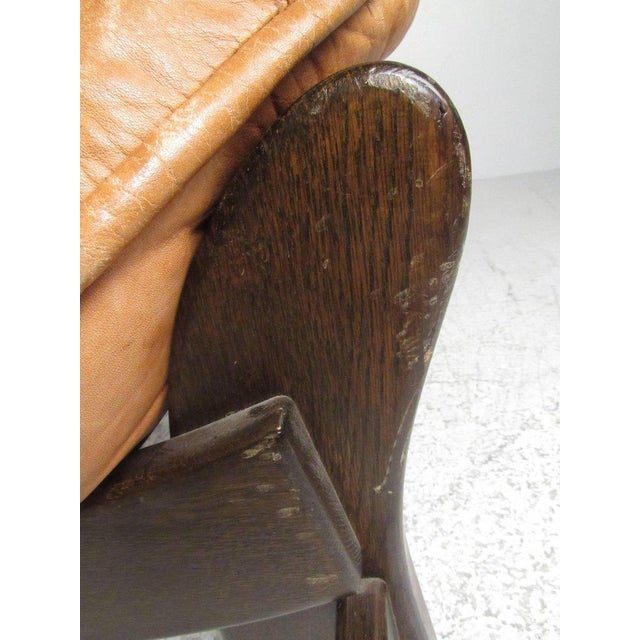 Vintage Leather Lounge Chair in the Style of Percival Lafer For Sale - Image 10 of 11