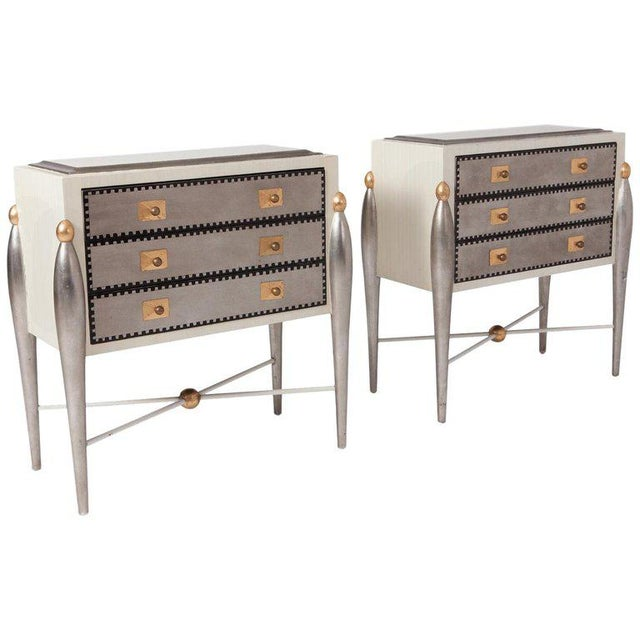 Hollywood Regency Glam 1970s Drawer Cabinets For Sale - Image 11 of 11