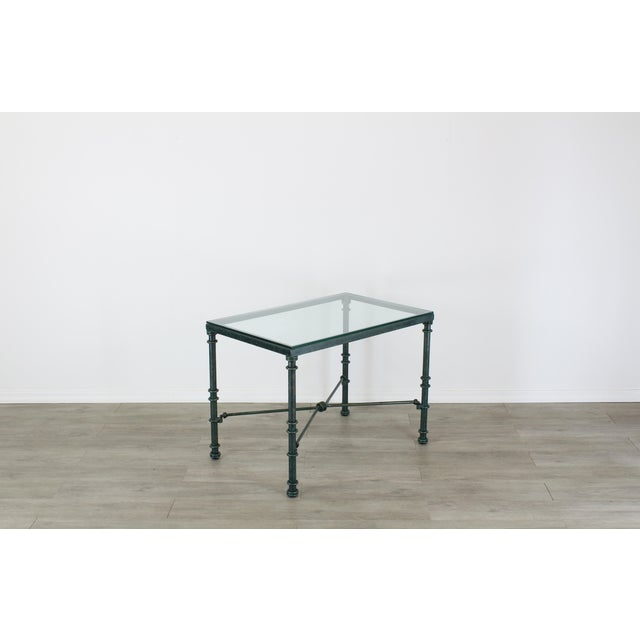 Mid-Century Modern Diego Giacometti Style Iron Side Table, Metal Side Table For Sale - Image 3 of 7