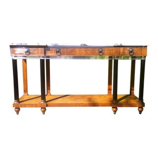 1960's Empire John Widdicomb Marble Top Console Table For Sale