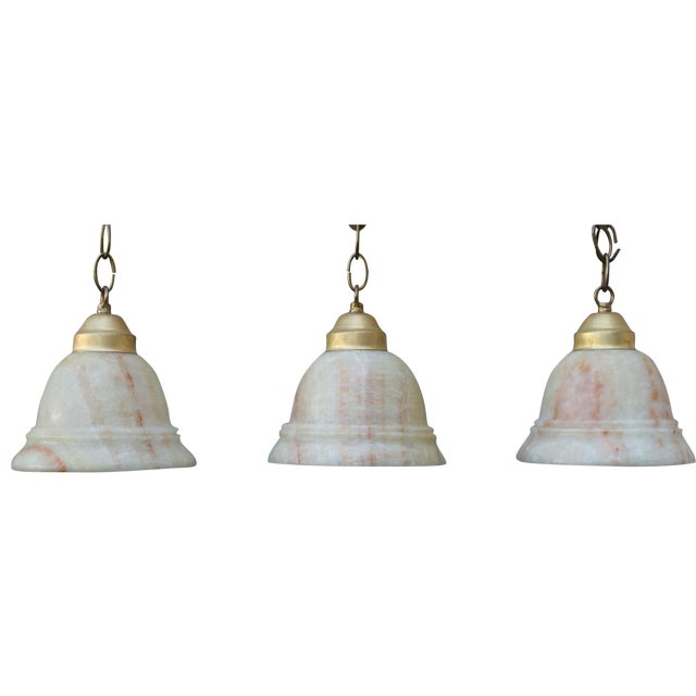 Alabaster Pendant Light Fixtures - 3 - Image 1 of 7