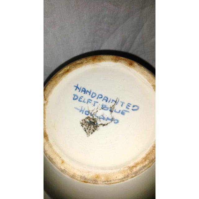 """Blue Delft """"Amphora"""" Hand Painted Porcelain Jar For Sale - Image 5 of 8"""