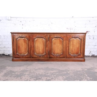 Baker Furniture French Country Cherry Wood Sideboard Credenza or Bar Cabinet Preview