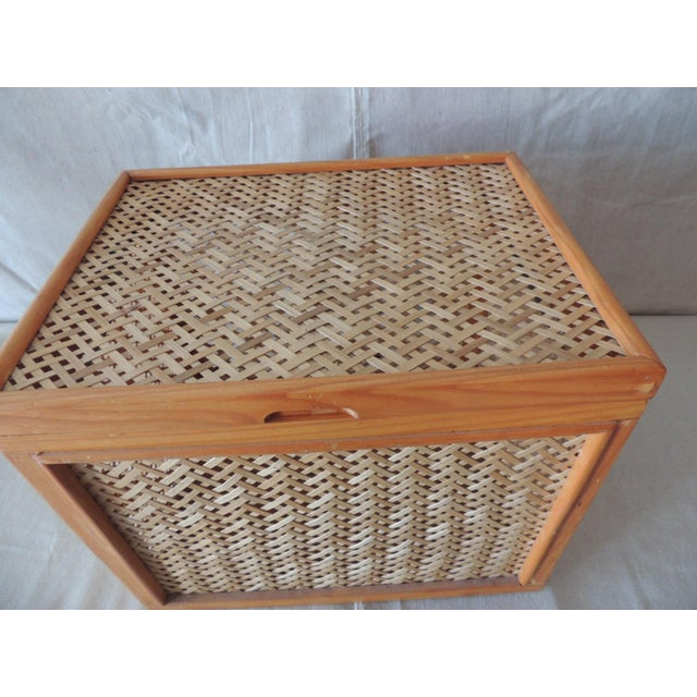 """Woven Bamboo Trellis Pattern Filing Box With Lid Size: 14.5""""W x 11""""D x 12""""H"""