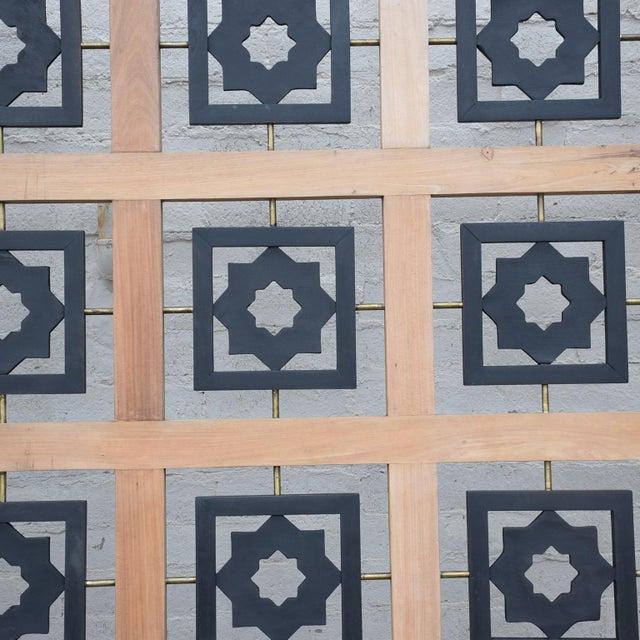Mexican Modernist Mahogany Room Divider Escudero Era For Sale - Image 4 of 9