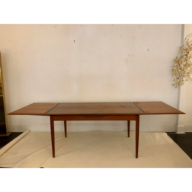 1960s Teak Dining Extension Table by Niels Moller For Sale - Image 5 of 10