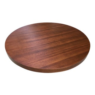 Art Deco Architectural Round Low Mahogany Coffee Table For Sale