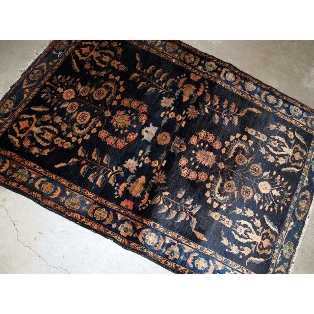 Islamic 1920s, Handmade Antique Persian Sarouk Rug 3.3' X 5.4' For Sale - Image 3 of 9