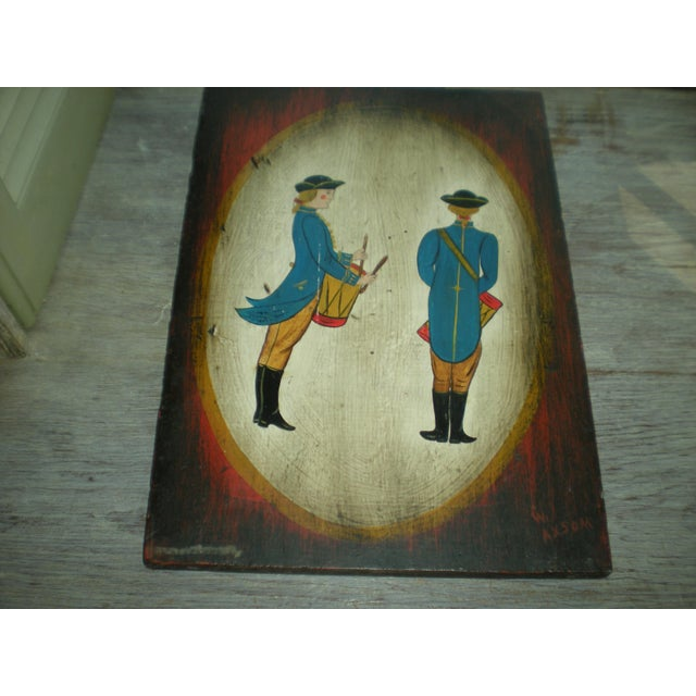 Vintage Painted Soldier Painting - Image 4 of 5